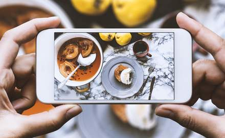 The Instagram influence and taking pictures of food