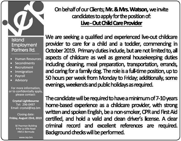 Live - Out Child Care Provider